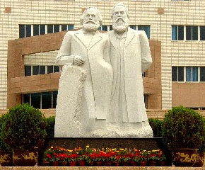Monument for Marx and Hegel in China
